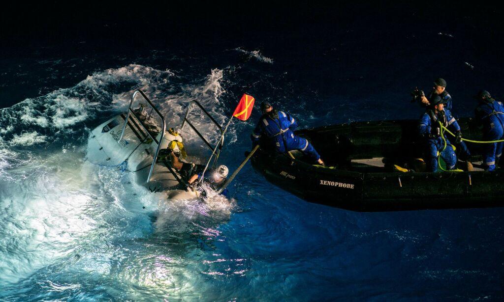 image: Rekorddykker fant plastpose på havets dypeste punkt