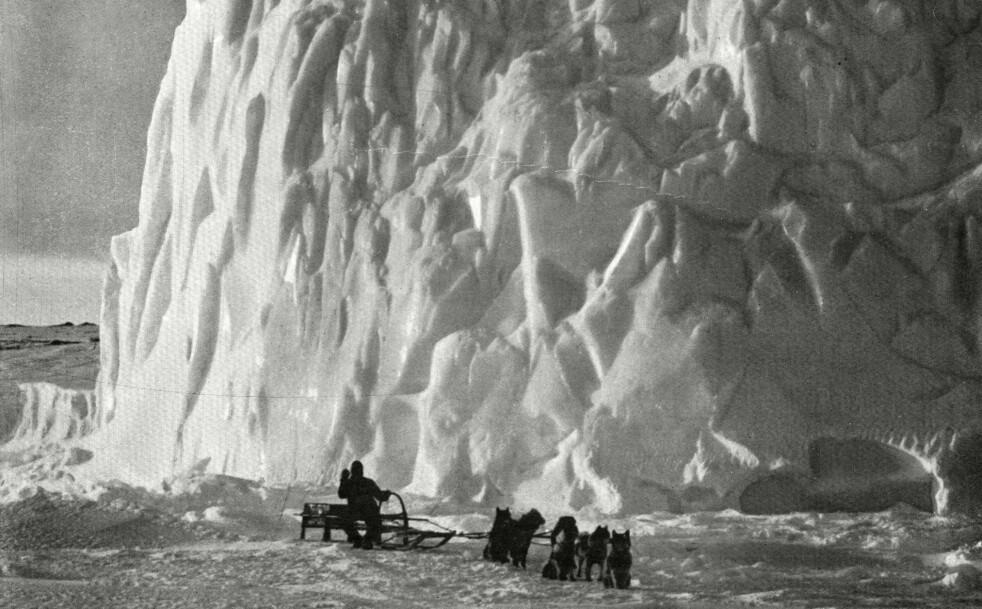 MYE IS: Under forrige istid var Norge dekket av kraftige mengder med is. Foto: Scanpix.