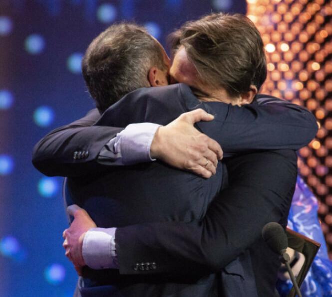 TAKKET FOR SEG: Harald og Thomas fikk hedersprisen under Gullruten i fjor. Foto: Espen Solli / Se og Hør