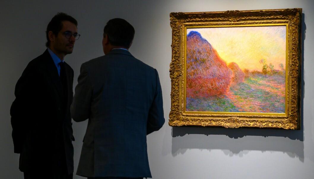 Maleriserien «Meules» er fra 1890. Foto: NTB scanpix / AFP