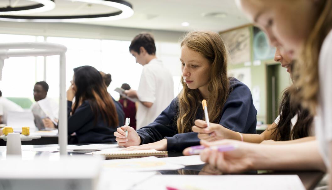 SKIPPERTAK: Privatlærer Lina mener at den største årsaken til eksamenspress er at mange elever går for skippertak på tampen av skoleåret fremfor å jobbe jevnt med faget. FOTO: NTB Scanpix