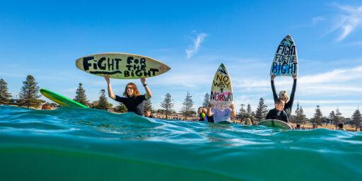 image: Equinor-protester i Australia: «No way, Norway!»