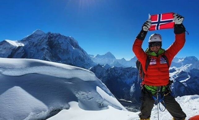Thomas (23) nådde toppen av Mount Everest