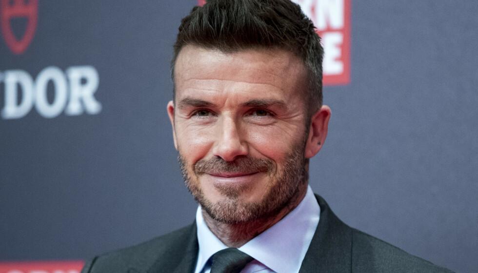 <strong>SPESIELL GAVE:</strong> Fotballstjernen David Beckham avslører at han fikk en testikkeltrimmer av sønnen Cruz Beckham i gave. Foto: NTB Scanpix