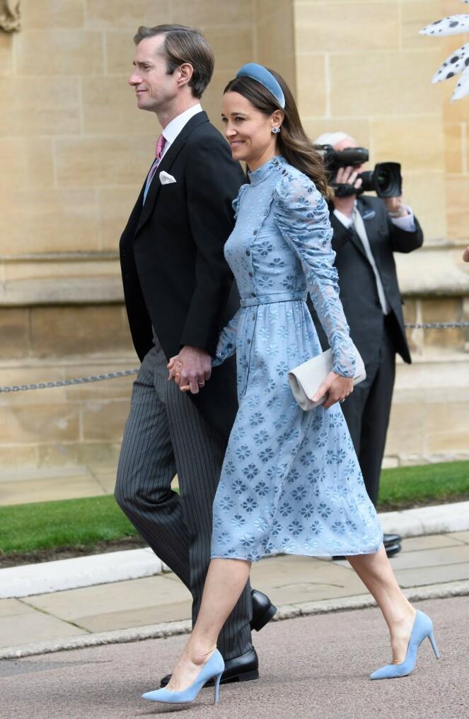<strong>VEKKER OPPSIKT:</strong> Pippa Middleton har tidligere vært romantisk involvert med brudgommen. At hun lørdag dukket opp i bryllupet, får flere til å sperre opp øynene. Foto: NTB scanpix