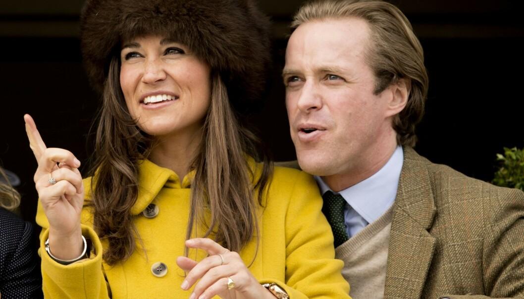 <strong>EKSER:</strong> Pippa Middleton og Thomas Kingston datet hverandre i 2011, men det skulle ikke vare. I dag er de gode venner. Her er de fotografrert i 2013, under Cheltenham-festivalen. Foto: NTB scanpix