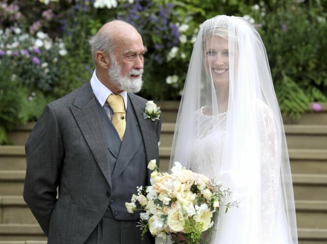 <strong>STOLT:</strong> Lady Gabriella poserte stolt med sin far, prins Michael av Kent. Foto: NTB scanpix