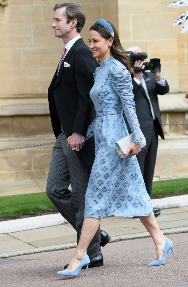 VEKKER OPPSIKT: Pippa Middleton har tidligere vært romantisk involvert med brudgommen. At hun lørdag dukket opp i bryllupet, får flere til å sperre opp øynene. Foto: NTB scanpix