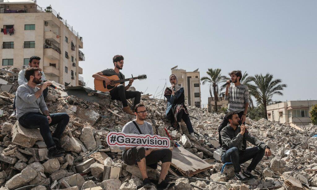 image: Arrangerer Gazavision i ruinene