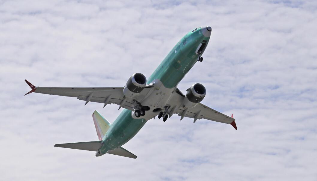 Et Boeing 737 MAX 8 bygget for Turkish Airlines på testtokt. Illustrasjonsfoto: Ted S. Warren / AP / NTB scanpix