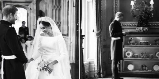 image: Deler «hemmelige» bilder på sin første bryllupsdag
