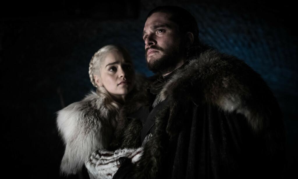 UTFORDRINGER: Utfordringene har stått i kø både for Daenerys Targaryen og Jon Snow i «Game of Thrones». Foto: HBO Nordic / Helen Sloan