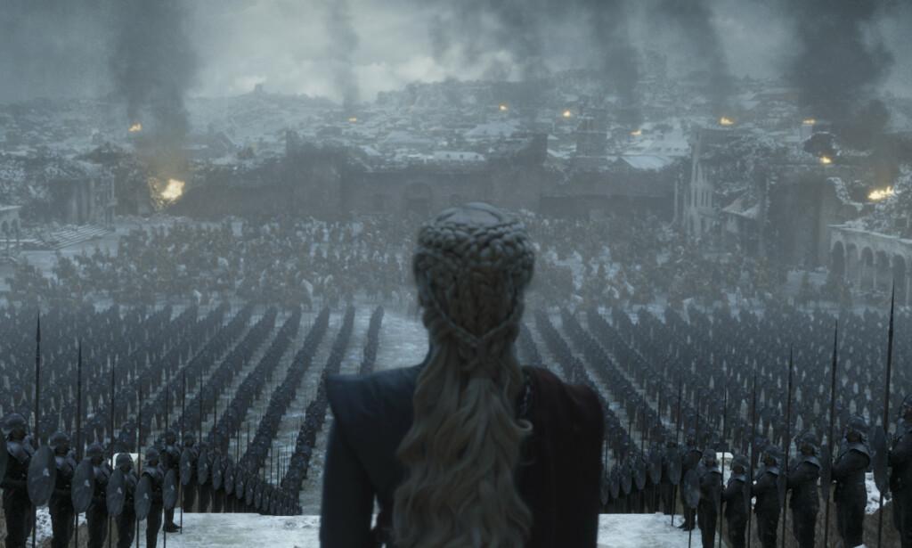 SPOILERE FØLGER: Daenerys Targaryen har overvunnet både The Night King og Cersei Lannister før episode seks. Lenger nede i saken følger spoilere om hva som skjer med henne nå. Foto: HBO Nordic