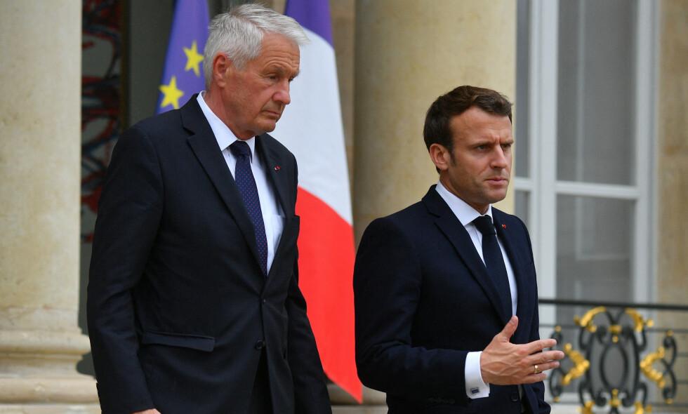 Fikk støtte: Europarådets generalsekretær, Thorbjørn Jagland, fikk støtte til å ta Russland inn i varmen igjen fra blant andre Emmanuel Macron Foto: Christian Liewig / NTB Scanpix