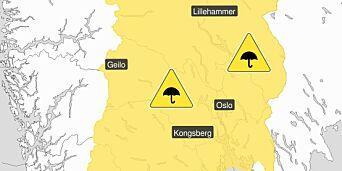 image: OBS! Meteorologene sender ut farevarsel!