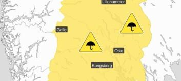 OBS! Meteorologene sender ut farevarsel!