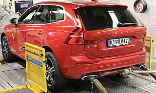 IMPONERTE IKKE: En Volvo XC60 D5 hadde dramatisk økning av utslipp i motorveihastighet. Foto: ADAC