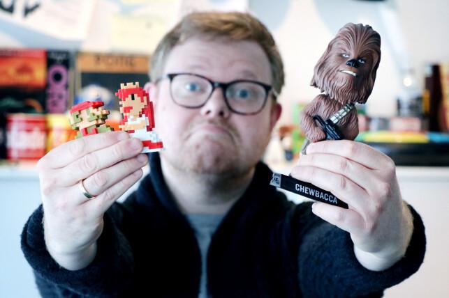 Ikke alle utviklere bryr seg om 30 år gamle Mario-spill og science-fiction-karakterer fra 70-tallsfilmer. 📸: Ole Petter Baugerød Stokke