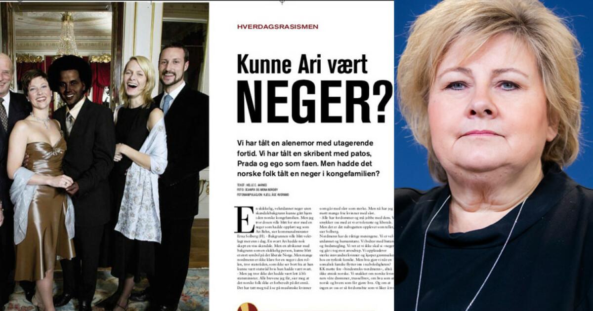 e04ca13f Erna sier ikke «neger» nå - Dagbladet