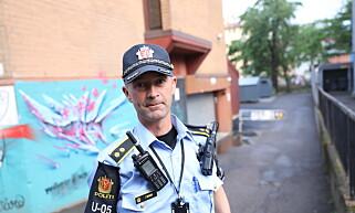 INNSATSLEDER: Politiets innsatsleder Tom Berger. Foto: Christian Roth Christensen / Dagbladet.
