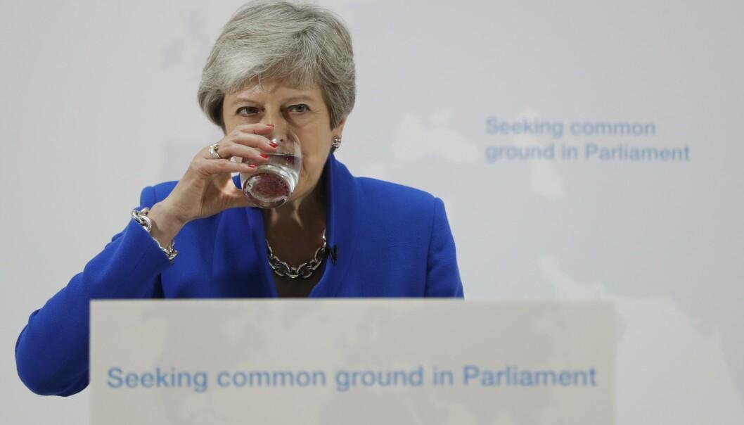 Statsminister Theresa May er i hardt vær. Foto: Kirsty Wigglesworth / AP / NTB scanpix