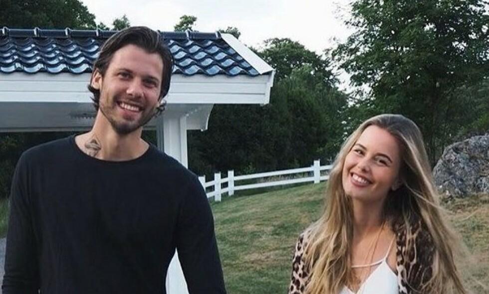 FIKK EN SØNN: Emil Løvstad, kjent fra «Paradise Hotel», og kona Annette Haga er blitt foreldre igjen. Foto: Skjermdump, Instagram
