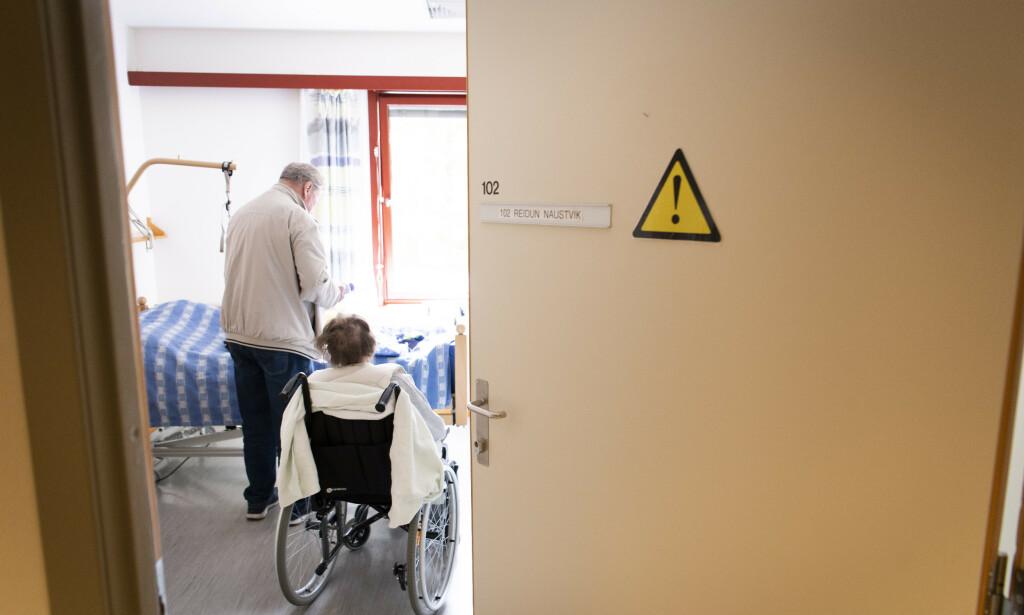 Endelig på plass: Familien håper Reidun får rolige dager fremover nå med langtidsplass på Vålerenga bo- og servicesenter.