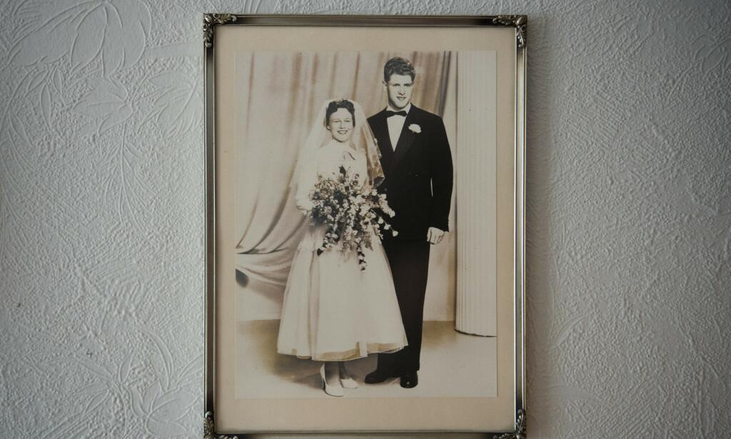 20 år gamle: Ekteparet Reidun og Julian Naustvik (81) feiret sin 60. bryllupsdag i fjor. Nå skilles de for første gang.