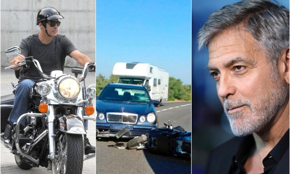 - DET VAR ILLE: George Clooney slapp utrolig nok unna med lettere skader da han var involvert i en ulykke i fjor, men han innrømmer at hendelsen ble en vekker for ham. Foto: NTB Scanpix