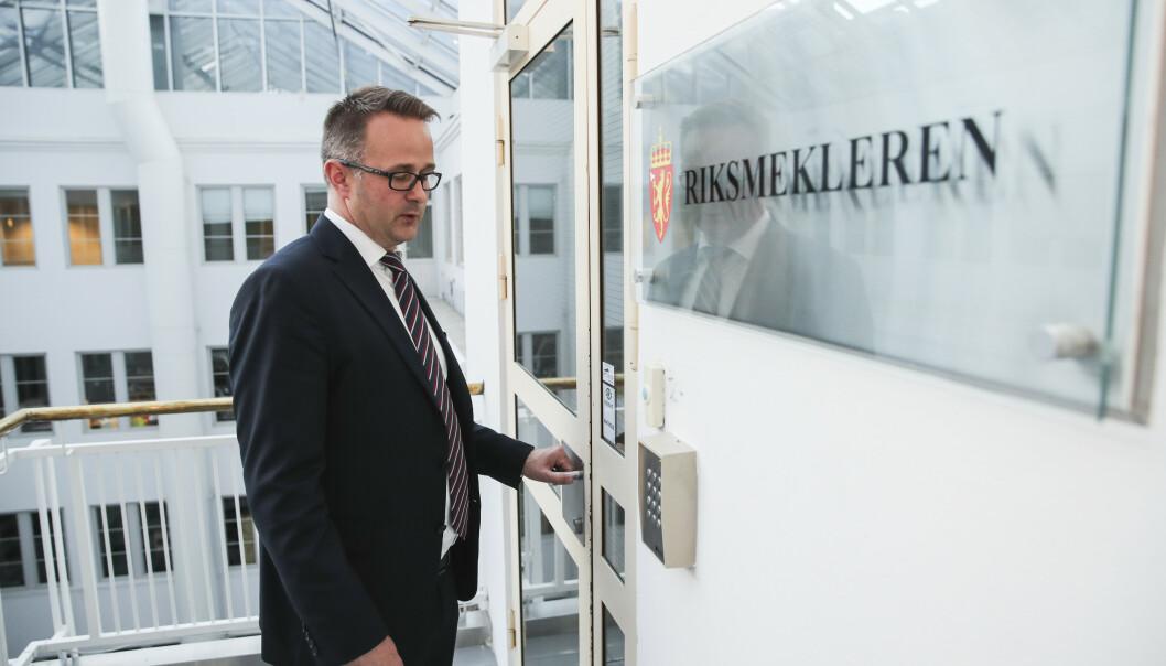Riksmekler Mats Wilhelm Ruland mekler i statsoppgjøret. (Foto: Vidar Ruud / NTB scanpix).