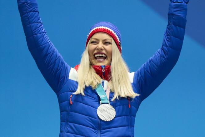 SØLV: Under OL i Pyeongchang fikk Ragnhild Mowinckel sølvmedalje i storslalåm. Foto: NTB Scanpix
