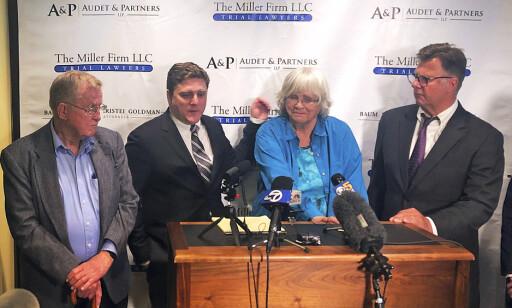 VANT I RETTEN: Alva og Alberta Pilliod med sine advokater Brent Wisner og Michael Miller tidligere i måneden. Foto: Scanpix