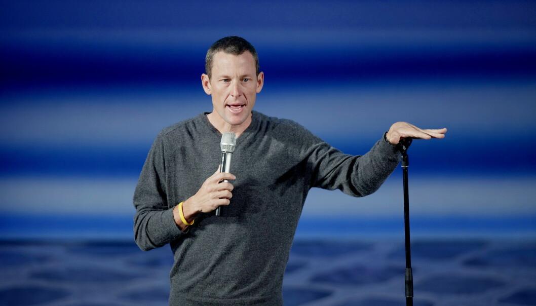 Lance Armstrong hevder at han ikke angrer på at han dopet seg som sykkelproff. Bildet er fra et foredrag i Oslo i 2009. Foto: Stian Lysberg Solum / NTB scanpix
