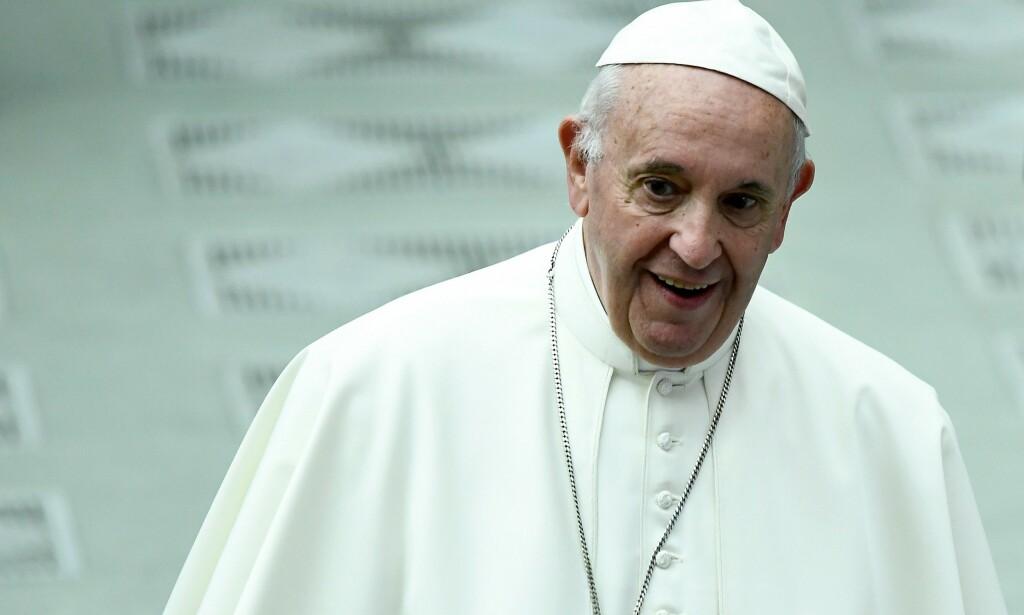 ABORTMOTSTANDER: Pave Frans. Foto: Filippo MONTEFORTE / AFP