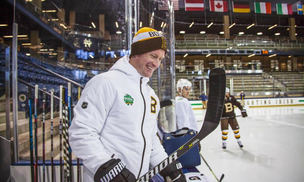 SUKSESS: Kim Brandvold fra Oslo er spillerutvikler og skøyte- og teknikktrener i NHL-klubben Boston Bruins. Foto: Privat / NTB scanpix