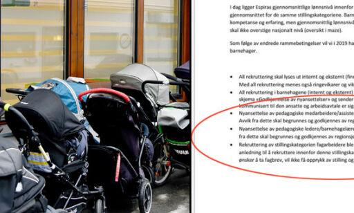 image: Barnehage-kjempen sluttet å ansette fagarbeidere: - Opprørende