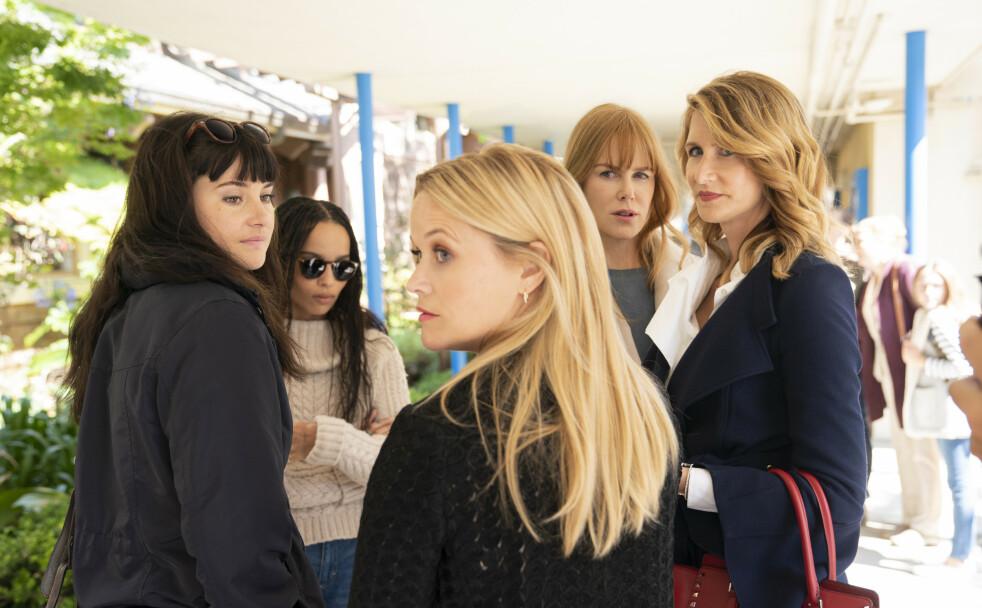 <strong>KOMMER SANNHETEN FREM?:</strong> Mødrene i den populære serien «Big little lies» er tilbake på TV-skjermen 10. juni. FOTO: HBO