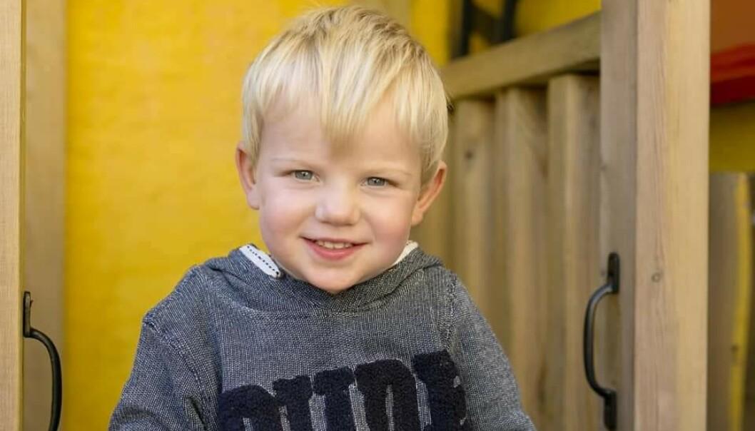 ARCHIE HARRISON WINDSOR: Den superskjønne gutten Archie Harrison Windsor fra Brighton har en navnebror på Frogmore Cottage. FOTO: Privat