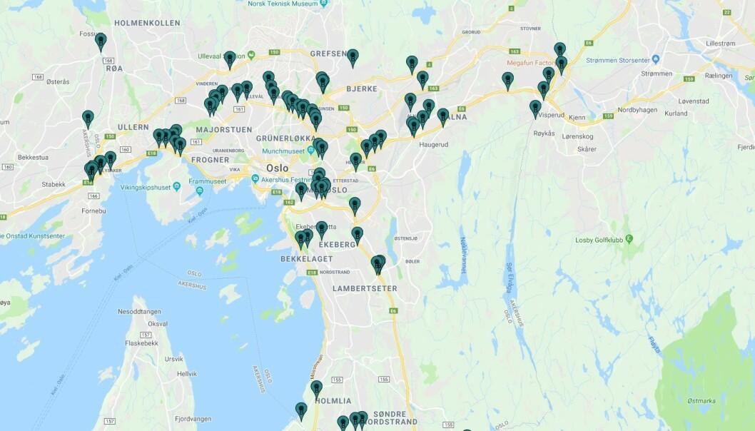 <strong>83 BOMMER:</strong> Totalt blir det nå 83 bommer i og rundt Oslo. Ill.: Fjellinjen A/S