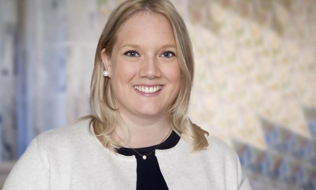 Aina Stenersen, førstekandidat for Frp i Oslo, partiets fraksjonsleder i bystyres helse- og sosialkomité, og helsepolitisk talsperson for Frps bystyregruppe i Oslo. Foto: Oslo kommune/Sturlason