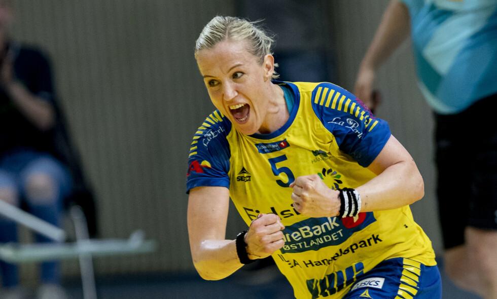 USIKKER FRAMTID: Heidi Løke vil ikke uttale seg om hvor hun spiller neste sesong, men hun har ingen planer om å trappe ned som håndballspiller. Foto: Geir Olsen / NTB scanpix
