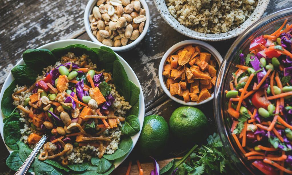 PLANTEBASERT: Nye studier viser hvor mye vegetarisk kosthold kan påvirke hjertehelsen. Foto: NTB Scanpix