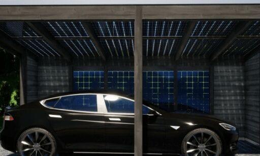 image: I denne garasjen lader elbilen seg selv