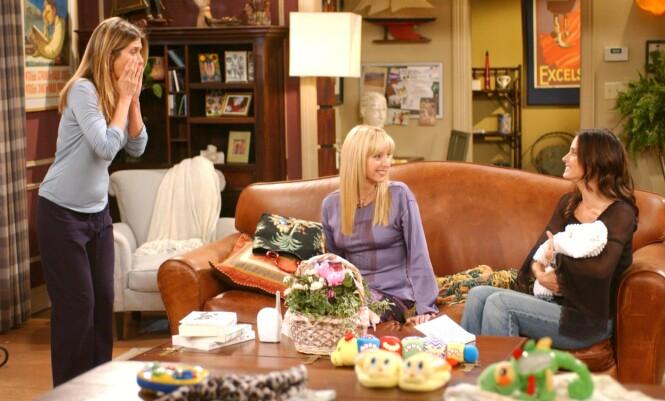 <strong>KOMPLEKSER:</strong> Spesielt da hun så seg selv på skjermen sammen med Jennifer Aniston og Courteney Cox, følte Lisa Kudrow seg dårlig. Foto: NTB Scanpix