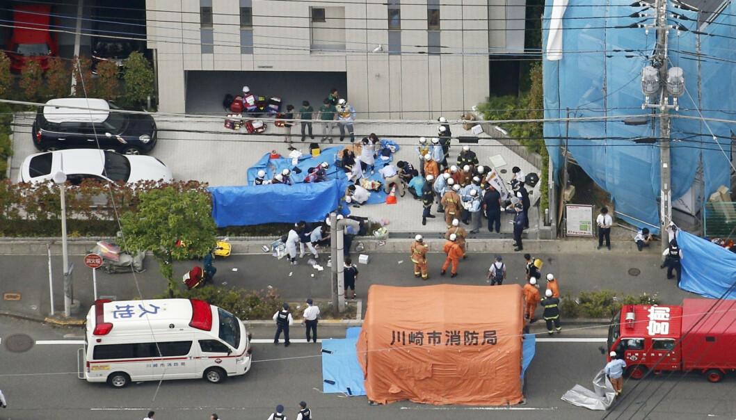 JAPAN: Angrepet i Kawasaki skjedde ikke langt unna Noborito-stasjonen tirsdag morgen lokal tid. Foto: Kyodo News via AP / NTB Scanpix