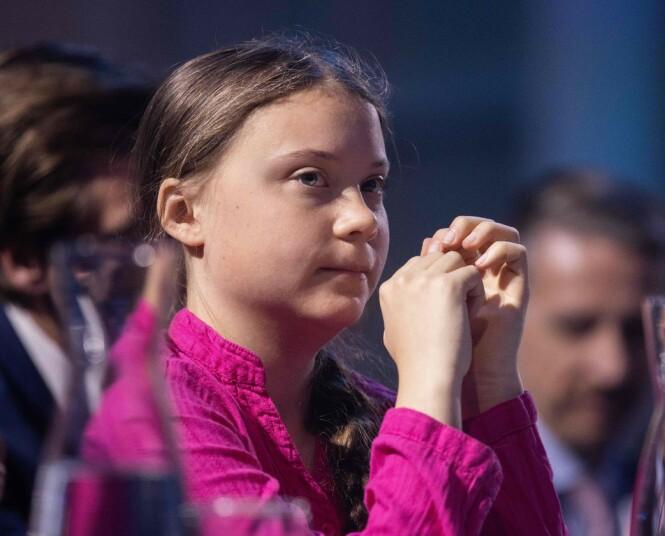 <strong>REAGERER:</strong> Greta Thunberg har blitt en fanebærer for mange unge det siste året. Foto: NTB Scanpix