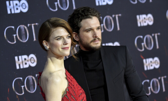 GIFT: Kit Harington og Rose Leslie fant tonen under innspillingen av «Game of Thrones». Nå er de gift. Foto: NTB Scanpix