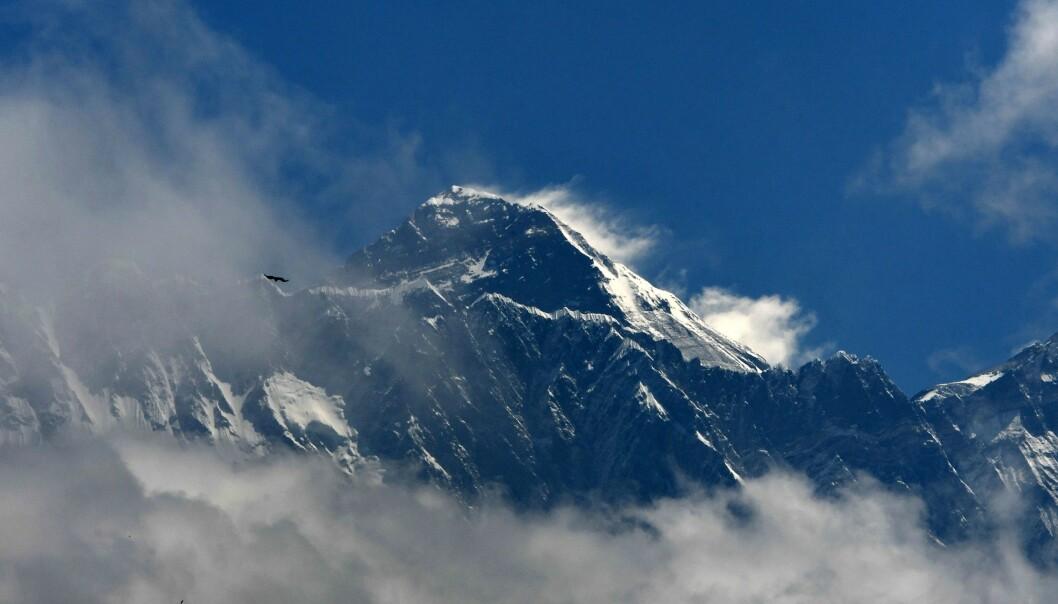 KREVER LIV: Å klatre det høyeste fjellet på kloden krever både et smart hode, og ofte gode gener. Foto: PRAKASH MATHEMA / AFP.