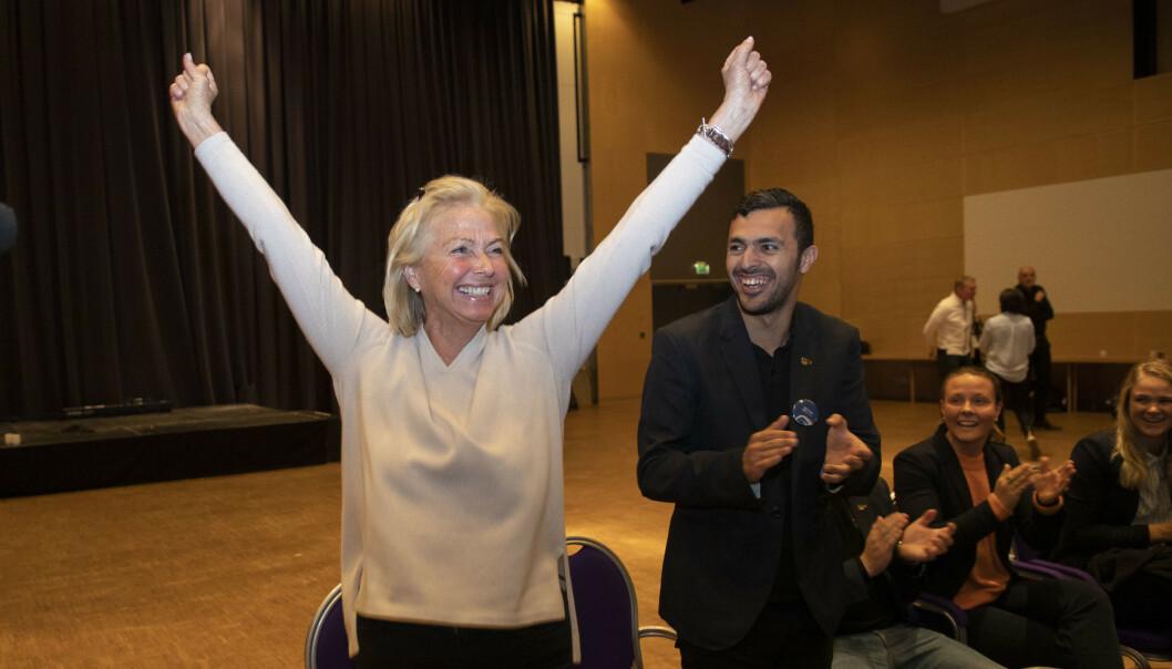 <strong>FORTSATT UAVKLART:</strong> Så lenge den nye idrettspresidenten ikke vil diskutere de prinsipielle problemene ved hennes egen valgkamp, vil hun dra med seg et troverdighetsproblem. FOTO: Geir Olsen / NTB scanpix