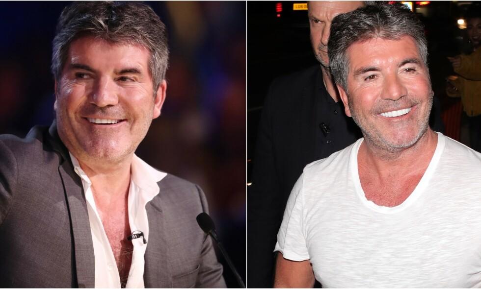 MISTET NI KILO: Stjernedommer Simon Cowell vakte stor oppsikt da han dukket opp under live-sendingen av «Britain's Got Talent», mandag. Foto: NTB scanpix